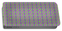 Portable Battery Charger featuring the digital art Purple And Green by Elizabeth Lock