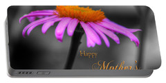 Portable Battery Charger featuring the photograph Purple And Orange Coneflower Happy Mothers Day by Shelley Neff