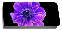 Purple Anemone Flower Portable Battery Charger by Mariola Bitner