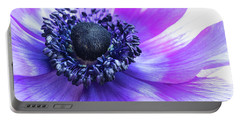 Purple Anemone Portable Battery Charger