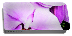 Portable Battery Charger featuring the photograph Purple Angel by Jessica Manelis
