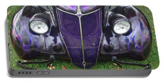 Purple Antique Ford Portable Battery Charger
