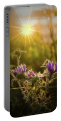 Purple Aster Glow Portable Battery Charger