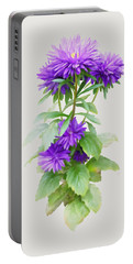 Purple Aster Portable Battery Charger by Ivana