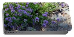 Purple Bachelor Button Flower Portable Battery Charger