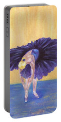 Portable Battery Charger featuring the painting Purple Ballerina by Jamie Frier