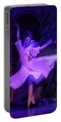 Purple Ballet Dancer Portable Battery Charger