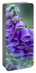 Purple Bell Flowers Foxglove Flowering Stalk Portable Battery Charger