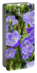 Purple Bell Flowers Portable Battery Charger by Joann Copeland-Paul