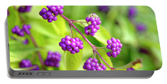 Purple Berries Portable Battery Charger