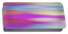 Portable Battery Charger featuring the digital art Purple Bliss Sunrise Panorama By Kaye Menner by Kaye Menner