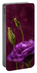 Purple Blossom And Buds Portable Battery Charger
