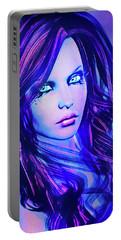 Purple Blue Portrait Portable Battery Charger