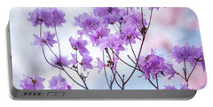 Portable Battery Charger featuring the photograph Purple Blue Romance by Jenny Rainbow