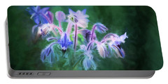 Purple Borage Portable Battery Charger by Bonnie Bruno