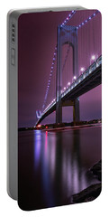 Portable Battery Charger featuring the photograph Purple Bridge by Edgars Erglis