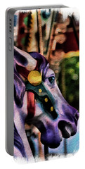 Purple Carousel Horse Portable Battery Charger