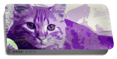 Purple Cat Portable Battery Charger