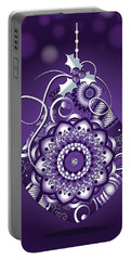 Purple Christmas Ornament Portable Battery Charger by Serena King