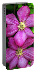 Purple Clematis 2 Portable Battery Charger