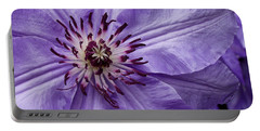 Purple Clematis Blossom Portable Battery Charger
