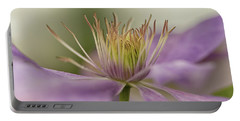 Purple Clematis Macro Portable Battery Charger by Jacqi Elmslie