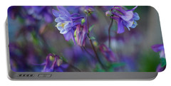 Purple Columbine Montage Portable Battery Charger