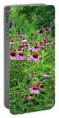 Purple Coneflower  Portable Battery Charger by Eva Kaufman