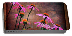 Purple Coneflowers Out Of Alignment  Portable Battery Charger