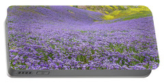 Purple  Covered Hillside Portable Battery Charger