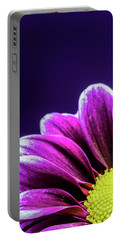 Purple Daisy Being Shy Portable Battery Charger