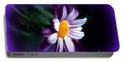 Portable Battery Charger featuring the photograph Purple Daisy Flower by Susanne Van Hulst