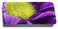 Purple Daisy In The Garden Portable Battery Charger