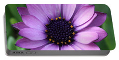 Purple Daisy Square Portable Battery Charger