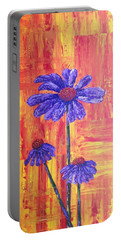 Purple Daisy Portable Battery Charger