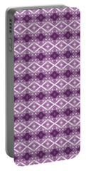Portable Battery Charger featuring the digital art Purple Diamonds by Elizabeth Lock