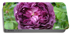 Purple English Rose Portable Battery Charger