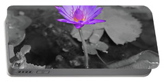 Purple Enlightened Lotus Portable Battery Charger