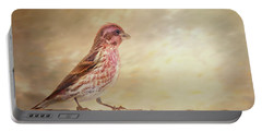 Purple Finch Walks The Line Portable Battery Charger