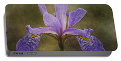 Purple Flag Iris Portable Battery Charger by Patti Deters