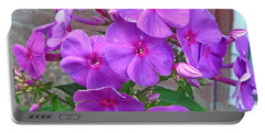 Purple Flame Phlox Portable Battery Charger