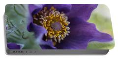 Purple Fleece Portable Battery Charger