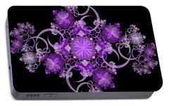 Portable Battery Charger featuring the photograph Purple Floral Celebration by Sandy Keeton