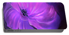 Purple Flower 33 Portable Battery Charger