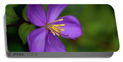 Purple Flower Macro Portable Battery Charger
