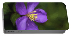 Portable Battery Charger featuring the photograph Purple Flower Macro Impression by Dan McManus