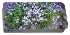Purple Flower Textured Photo 1028b Portable Battery Charger