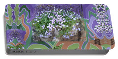 Purple Flower Textured Photo 1028d Portable Battery Charger