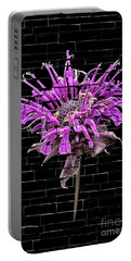 Purple Flower Under Bricks Portable Battery Charger