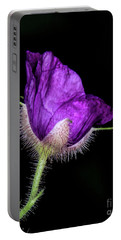 Purple Flowering Raspberry Portable Battery Charger